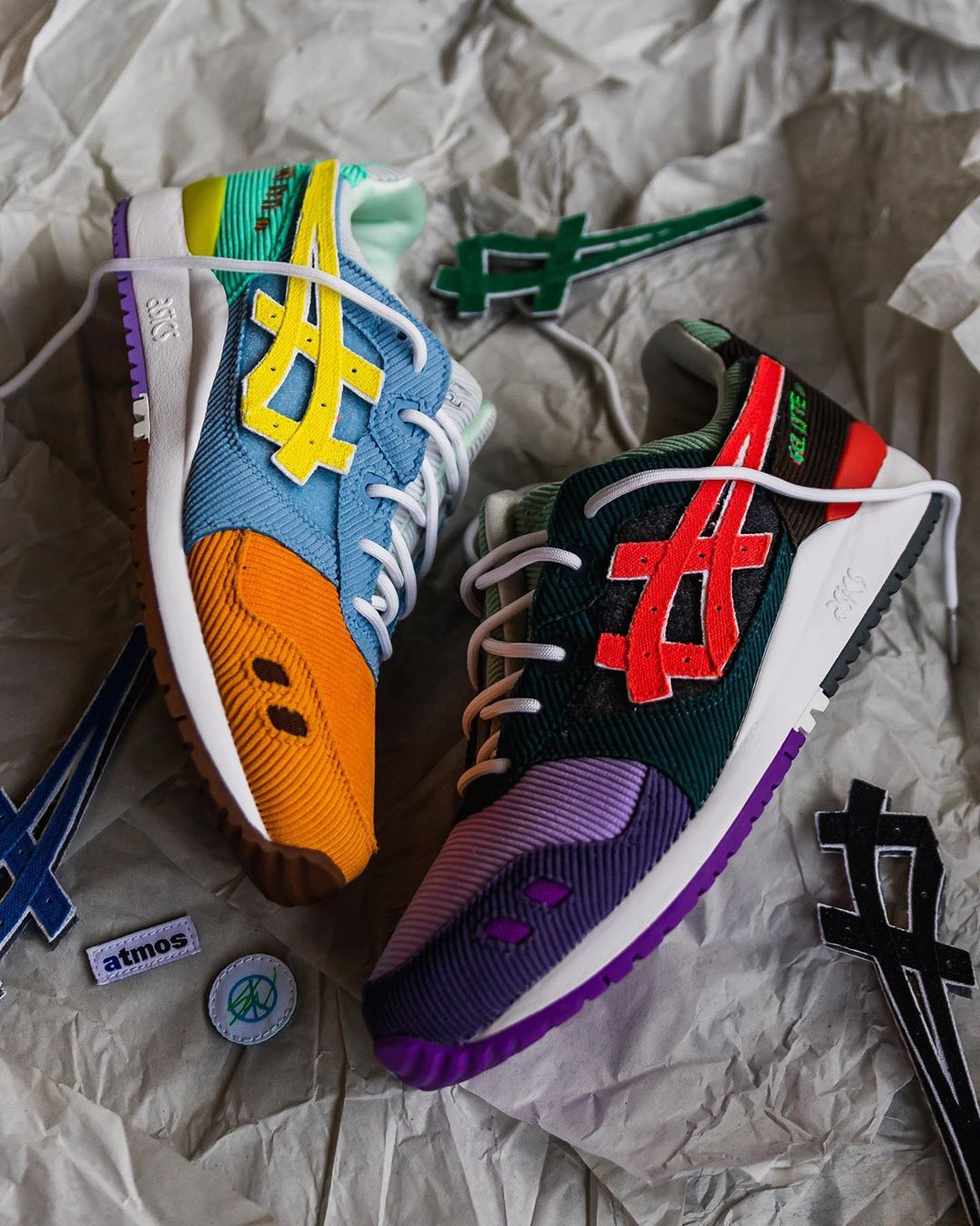Novelship Sean Wotherspoon x Atmos x Asics Gel-Lyte III Corduroy