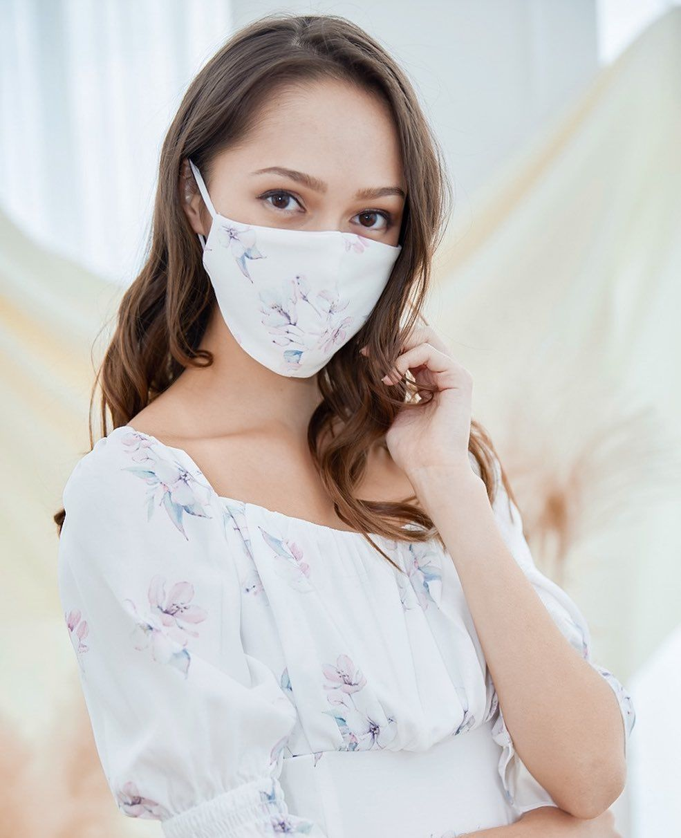 Purpur Haru Sustainable Floral Mask