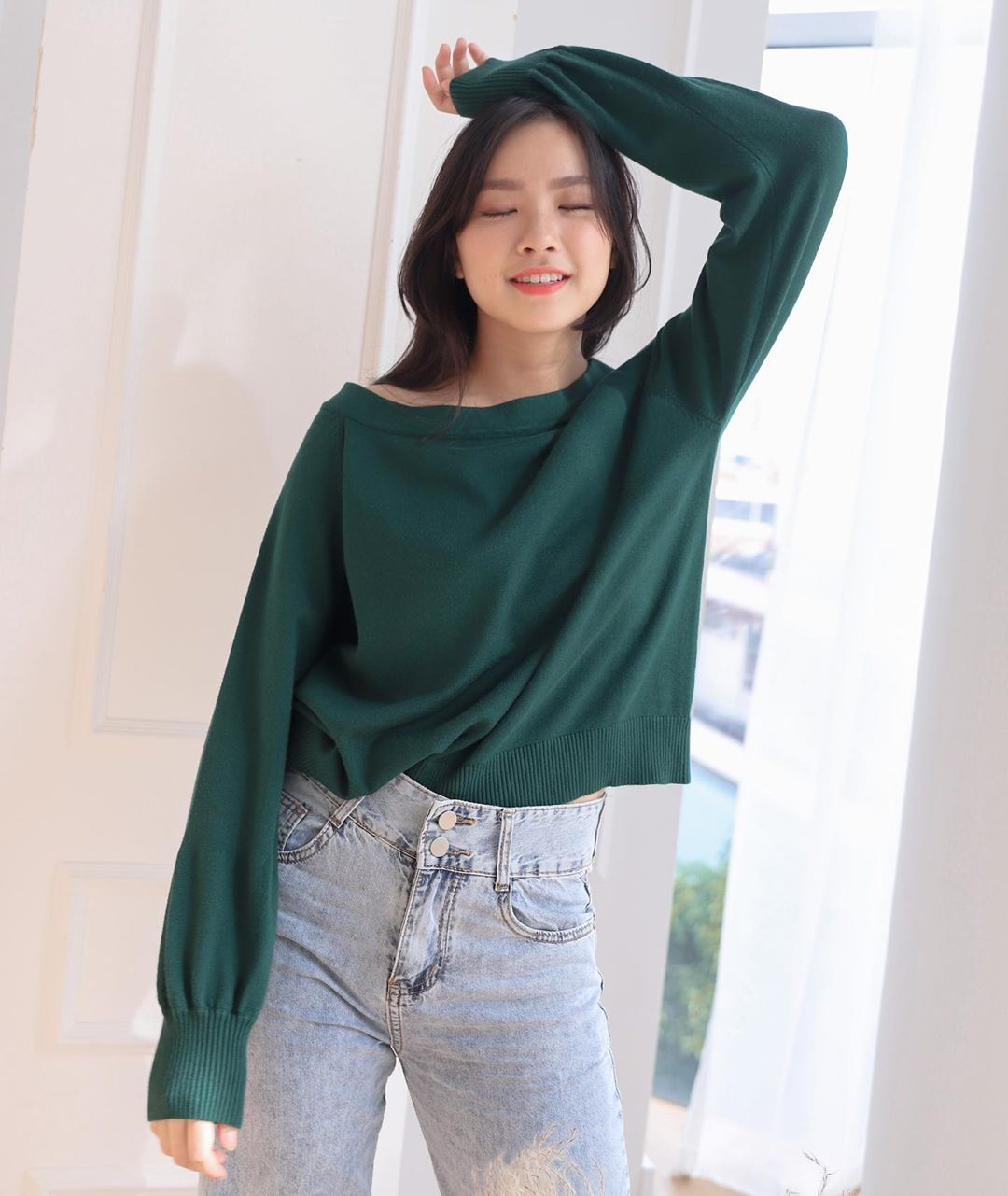 Purpur Tansy Cold Shoulder Knit Sweater